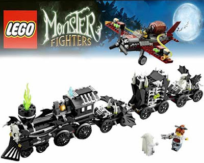 Supernatural steam loco engine to take an eerie moonlight train journey Lego assembly work of genius