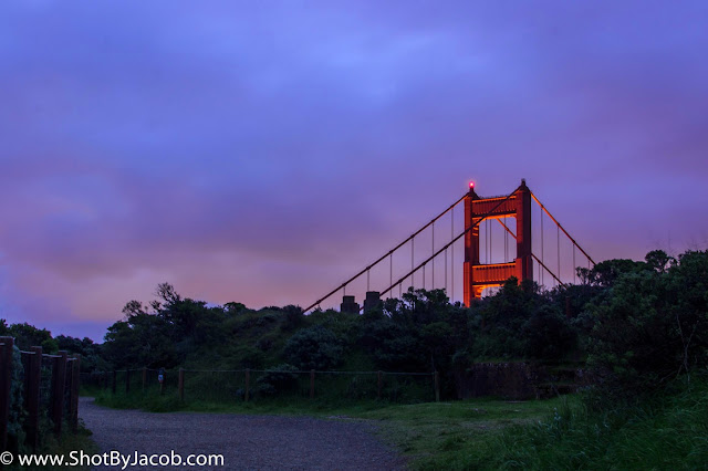 A picture I took from the Marin Headlands of the Golden Gate Bridge