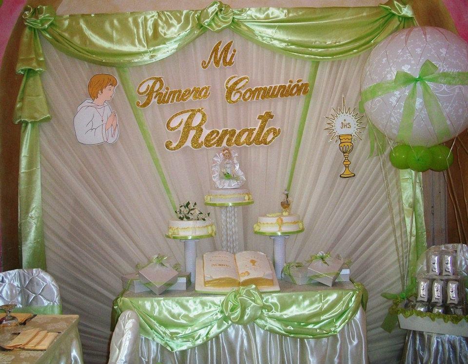 Decoracion primera comunion con velos - Decoracion fiesta comunion ...