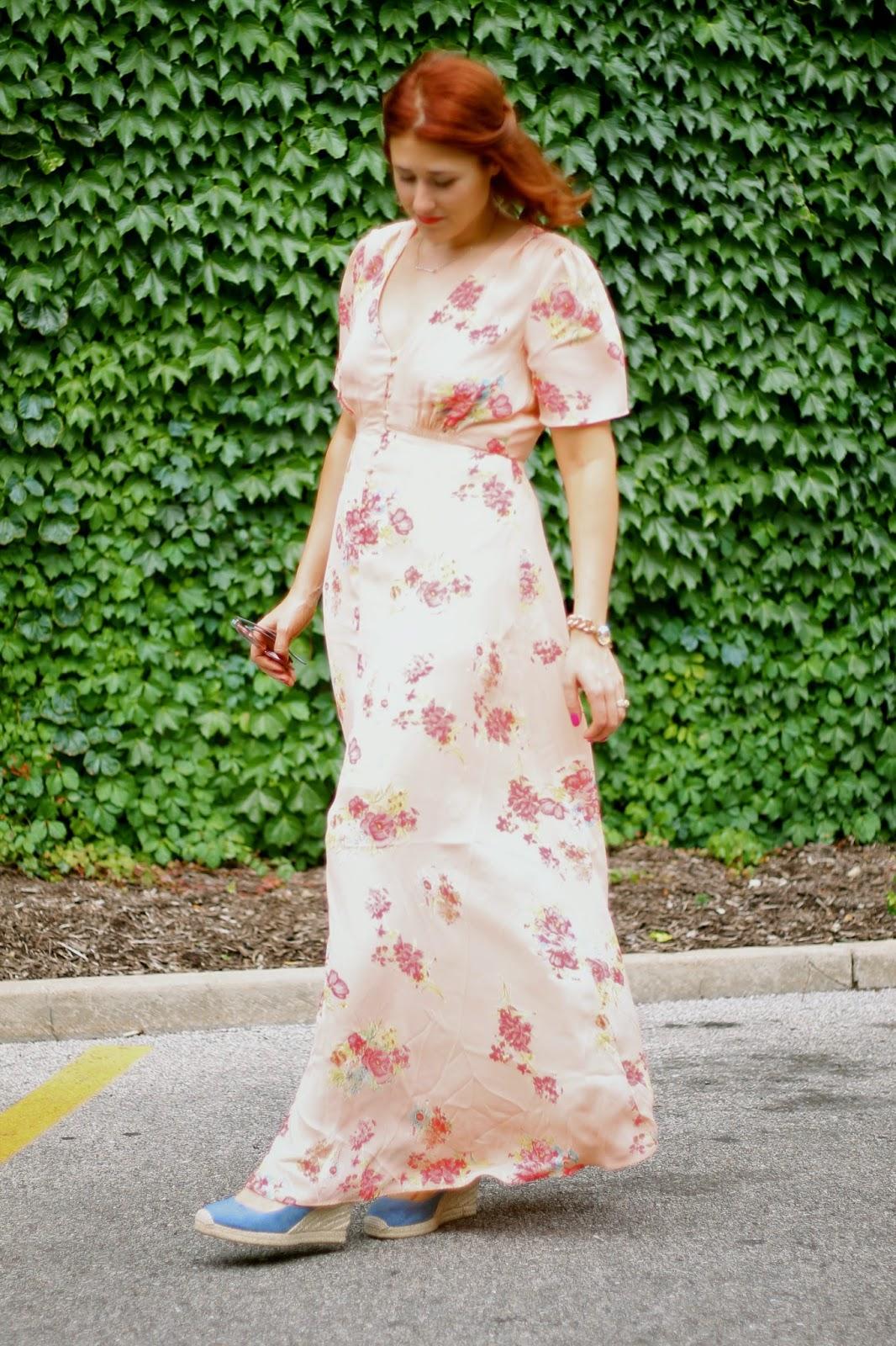 asos, floral, maxi, dress, pink, pretty