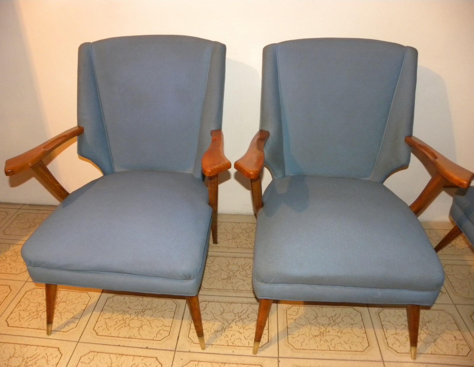 Deco retro vintage juego de sillones americanos - Tapizado de sillones ...