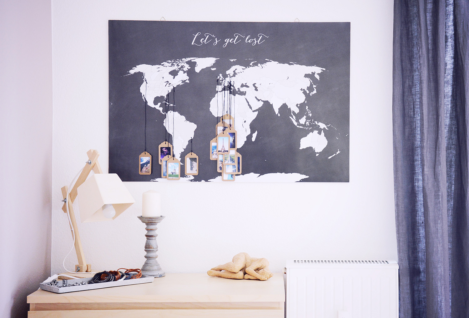 rotkehlchen diy interior tagging a world map with your favorite pictures. Black Bedroom Furniture Sets. Home Design Ideas