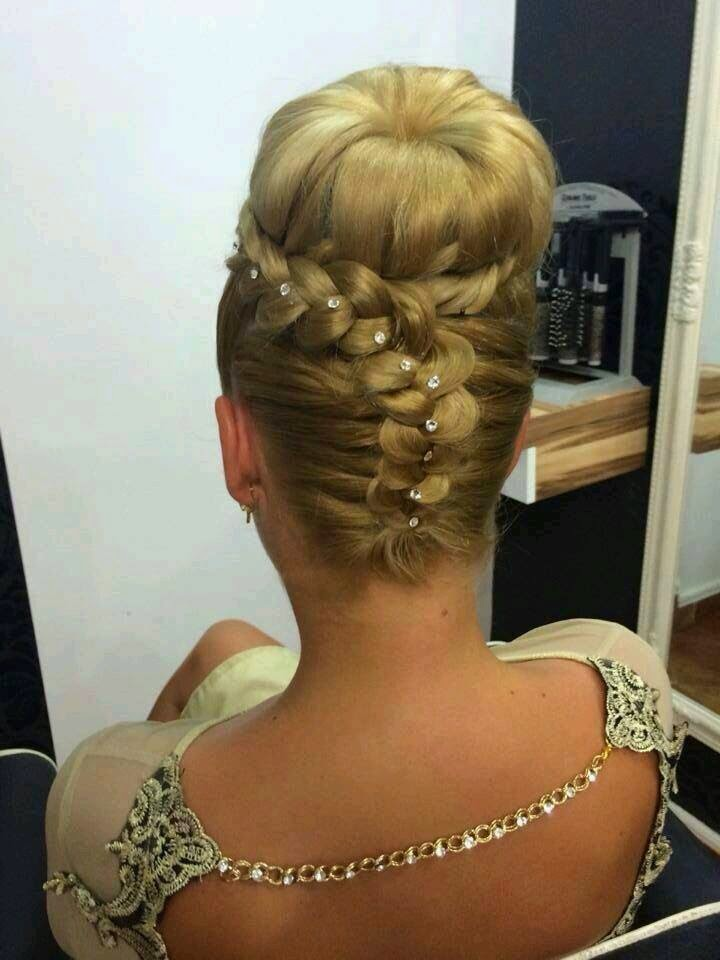 Stylish Cute French Braided Bun Hair Styles For Women B