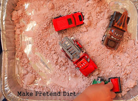 Make pretend dirt for kids to play with