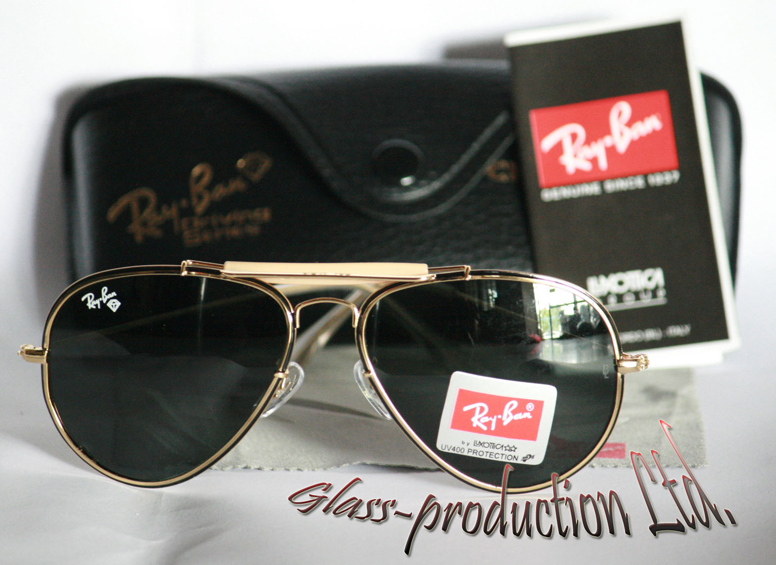 Ray Ban Black And Gold