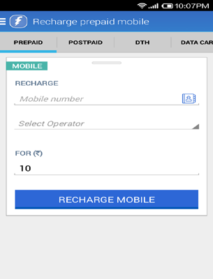 enter mobile number details