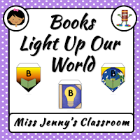https://www.teacherspayteachers.com/Product/Books-Light-Up-Our-World-Bunting--1988854