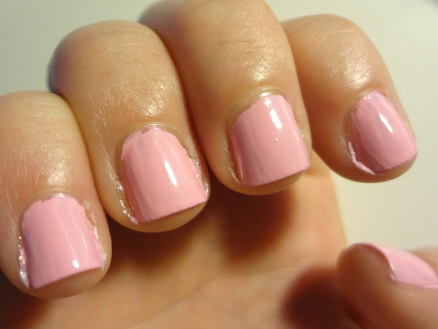 Second coat of Pink Blink, by Sally Hansen