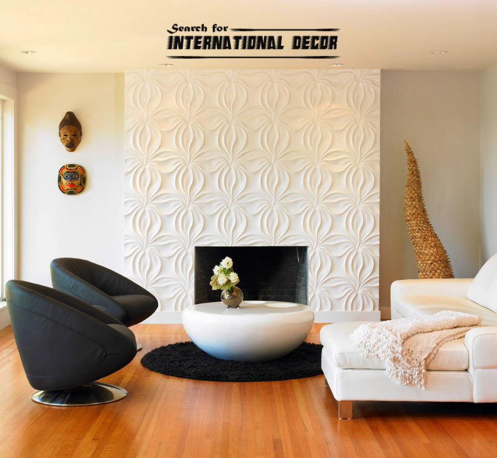 Decorative wall panels in the interior latest trends for Decorative wall tiles for living room