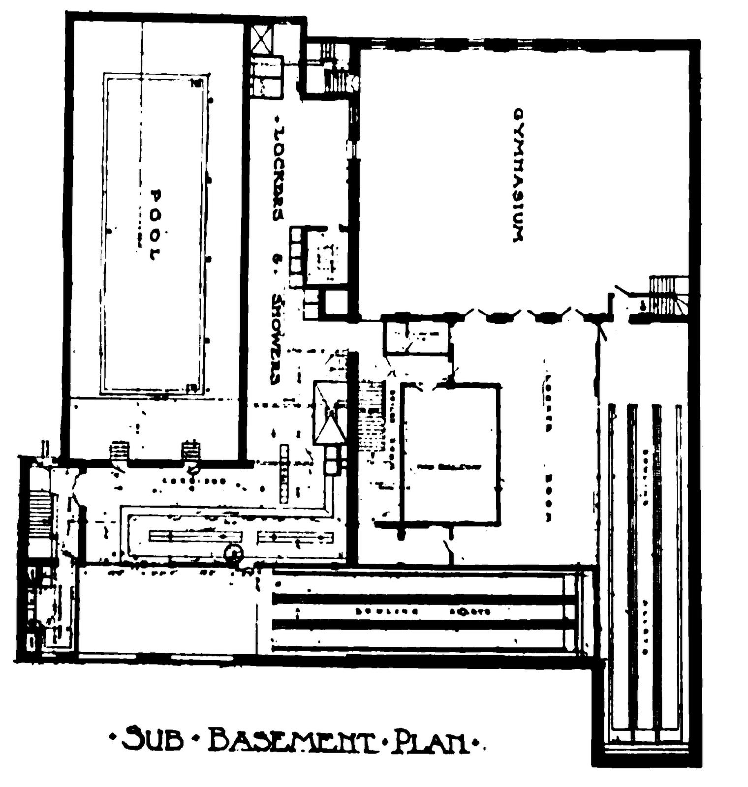 Cambridge ymca floor diagrams for Racquetball court diagram