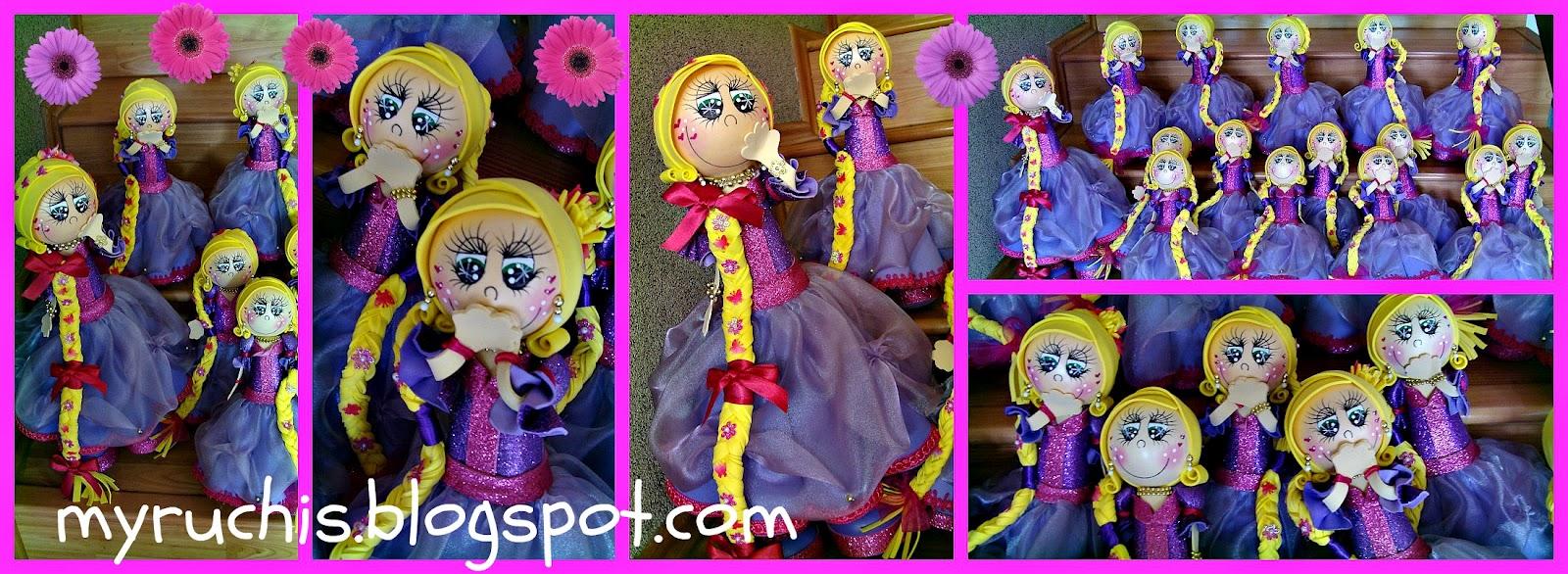 Decoracion Rapunzel Disney ~   nombre de la festejada y con la princess Myruchis, no la de Disney