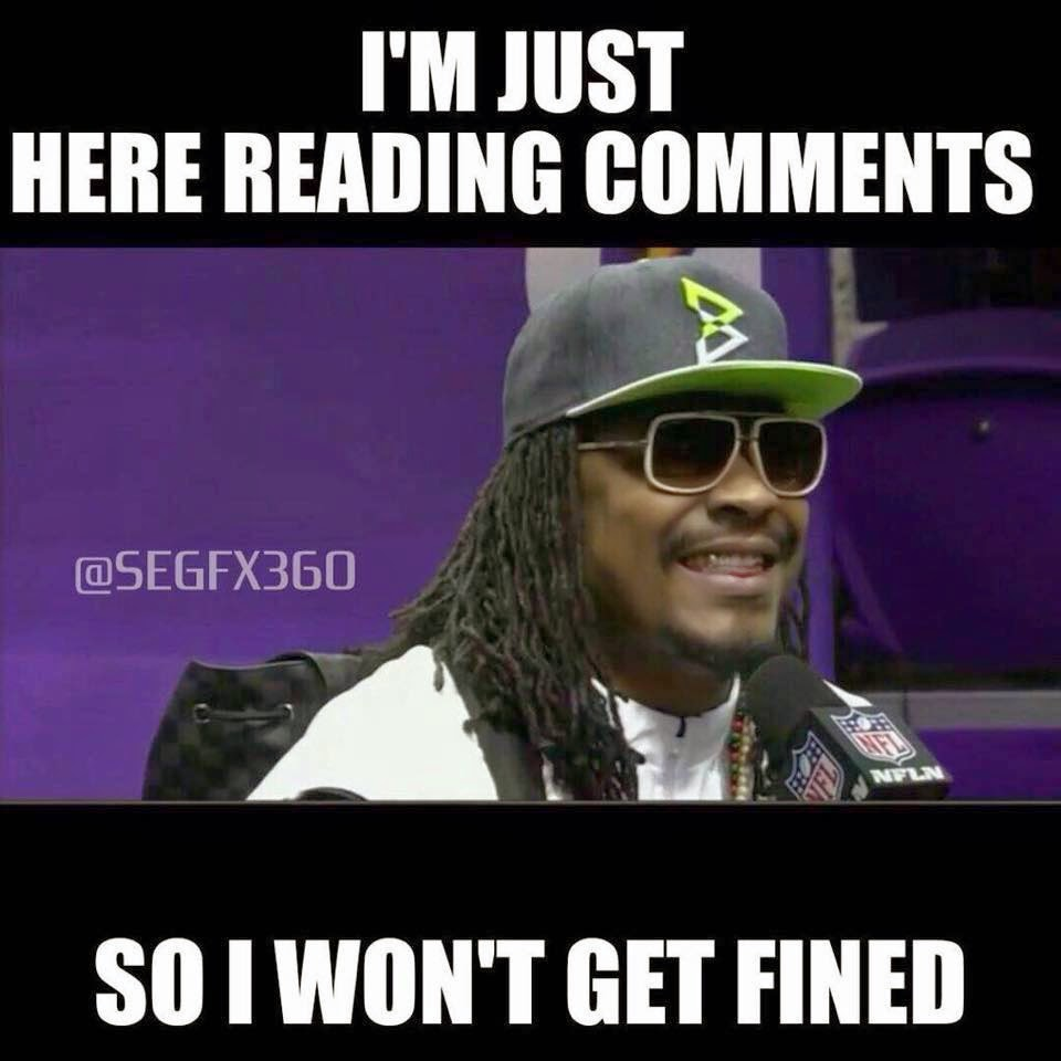 I'm Just here reading comments so i won't get fined