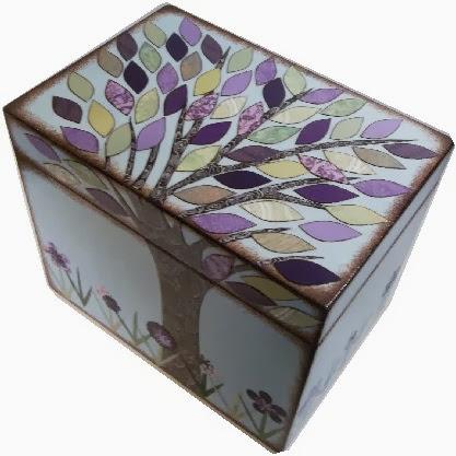 jesienne pudełko decoupage inspiracje fall inspiration