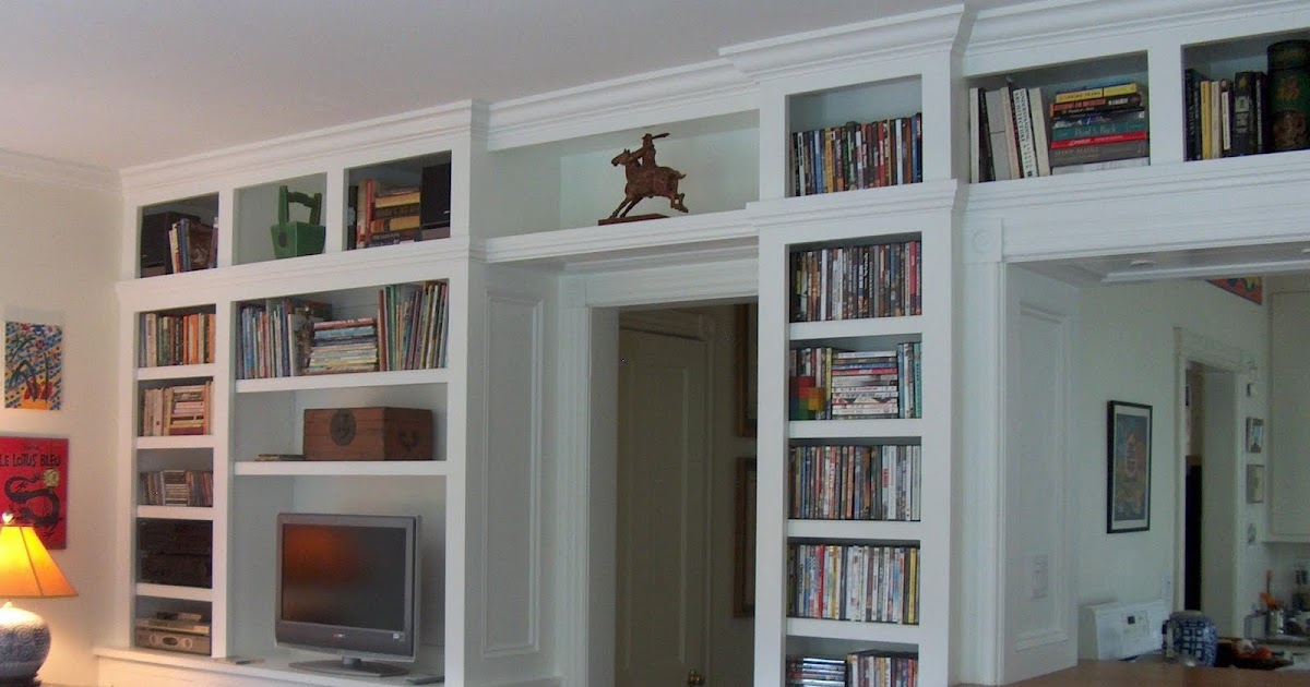 An American Housewife: Built In Book Cases