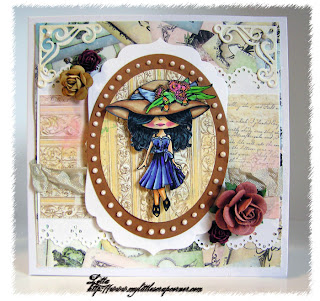 Card with Zoe Hatter stamp