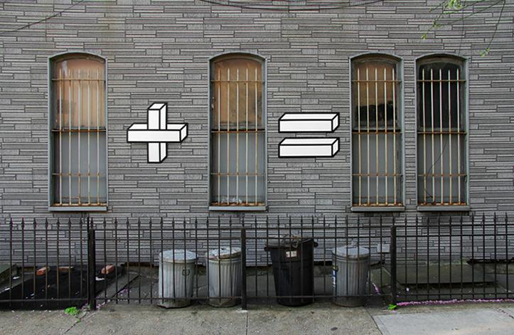 streetart matematyka okna i mury