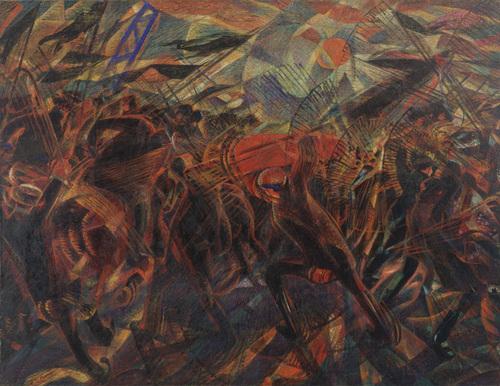 pintura do futurista Carlo Carrà