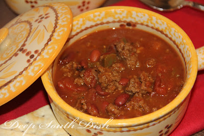 Deep South Dish Homemade Beef Chili With Beans