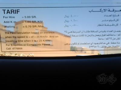 tarif taxi
