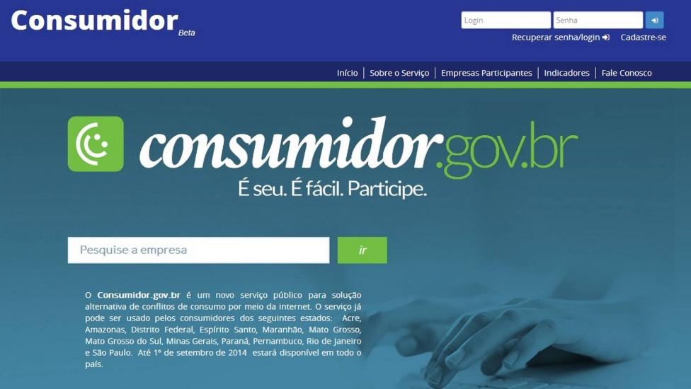 Consumidor/Gov - Fazer reclamações