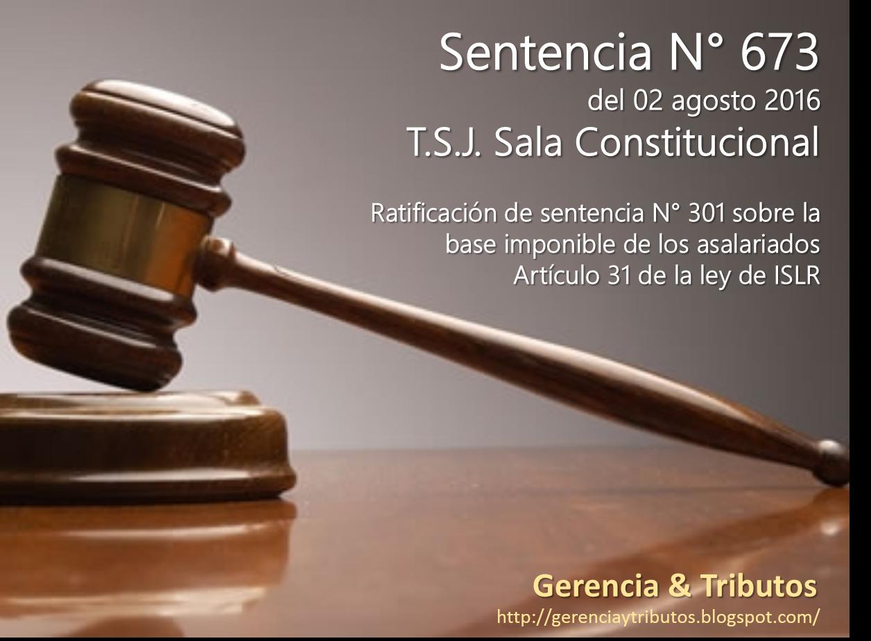 Sentencia N° 673 del TSJ