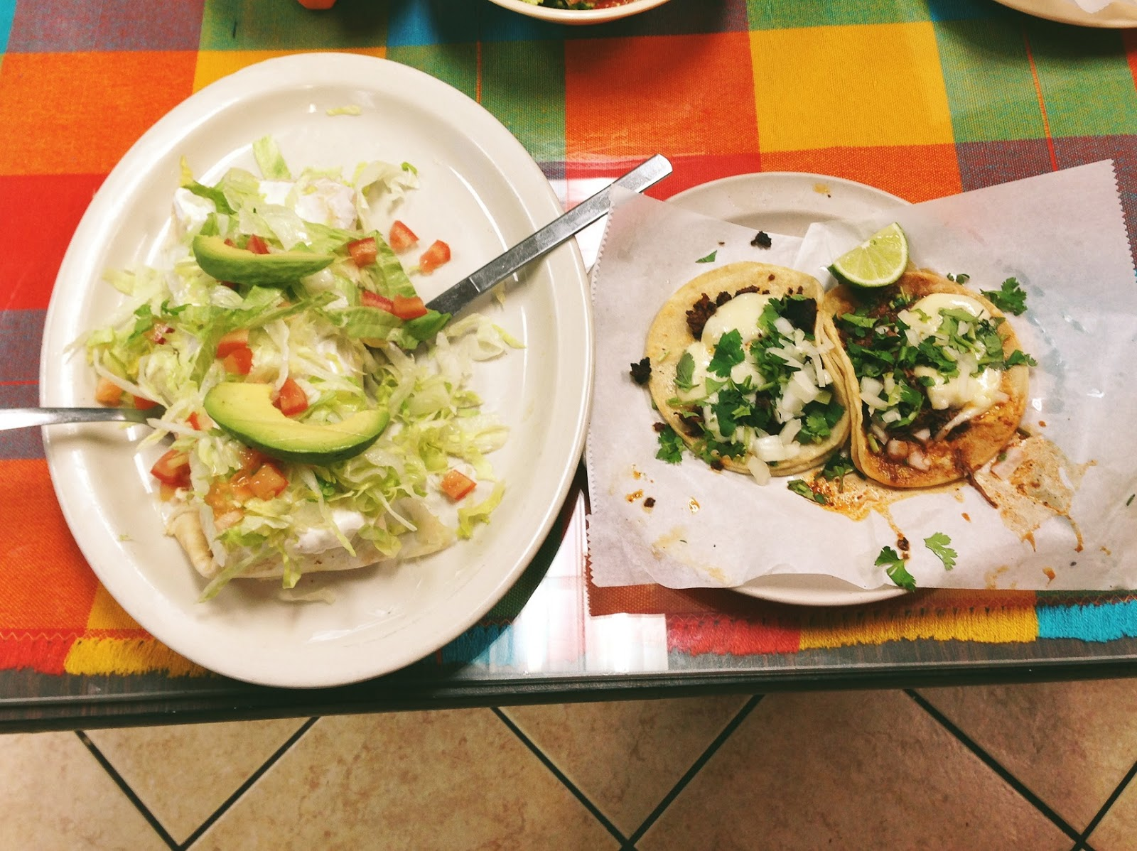 Tacos at El Jaicience Mexican restaurant in Nashville Tennessee
