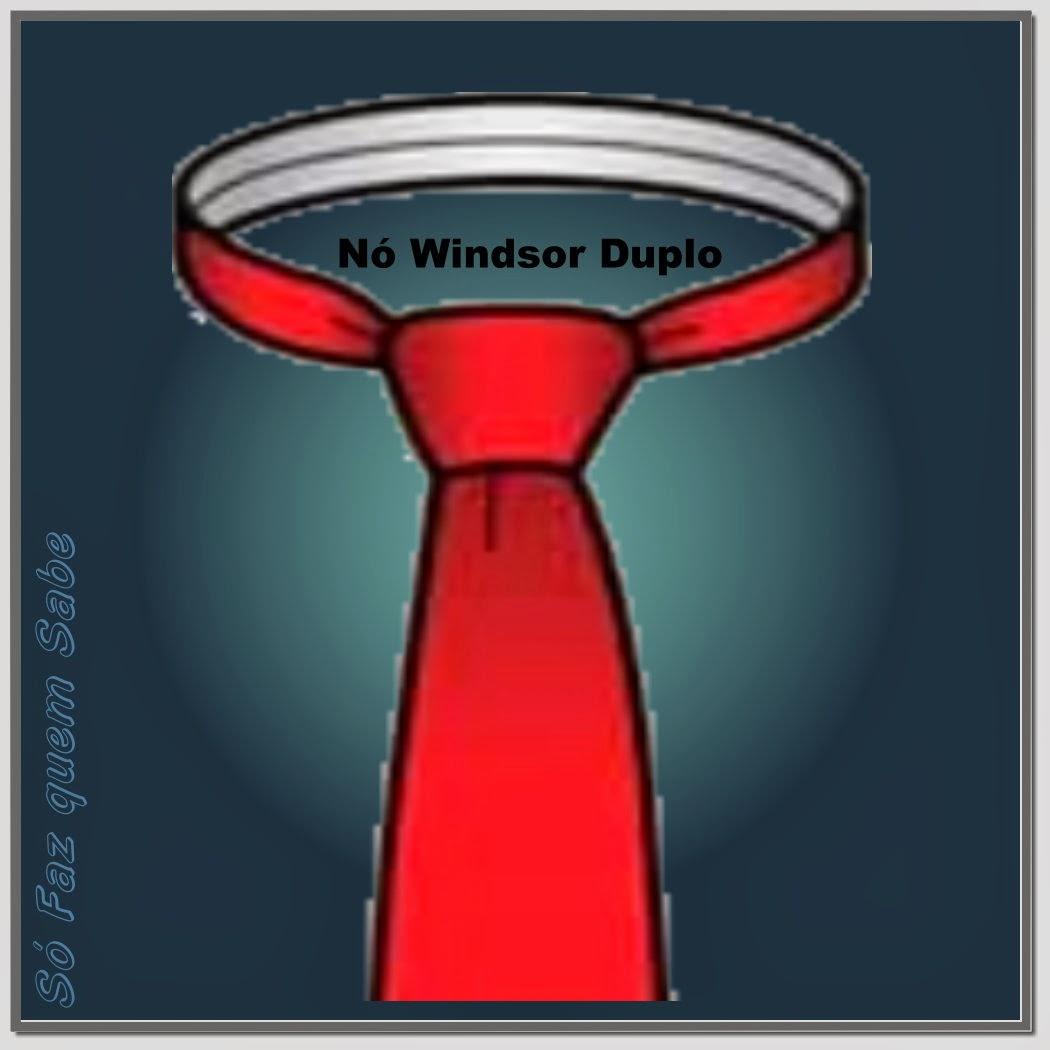 Nó Windsor duplo ou completo (Full Windsor Knot). Nó clássico ou Inglês.