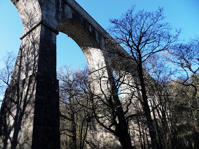 Luxulyan Valley viaduct and aqueduct Cornwall