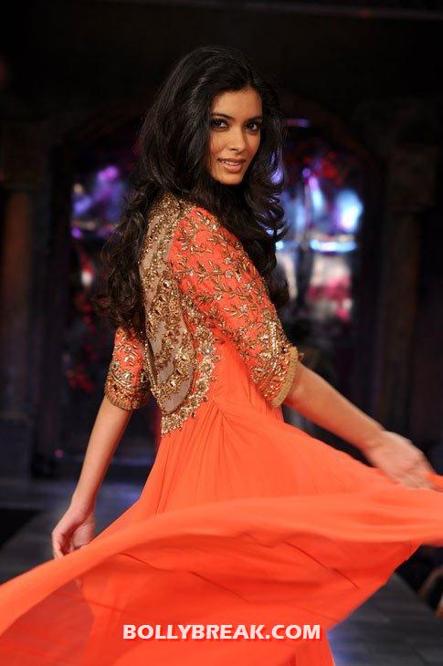 Diana penty walks the ramp in a coral outfit  -  Colour me coral - bTown girls