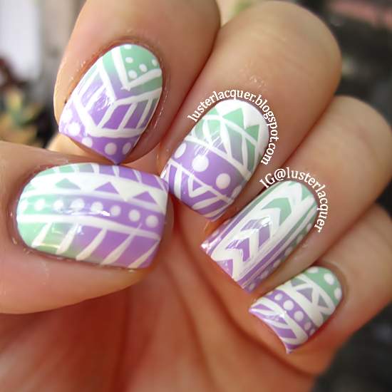 The gallery for --> Tribal Print Nails