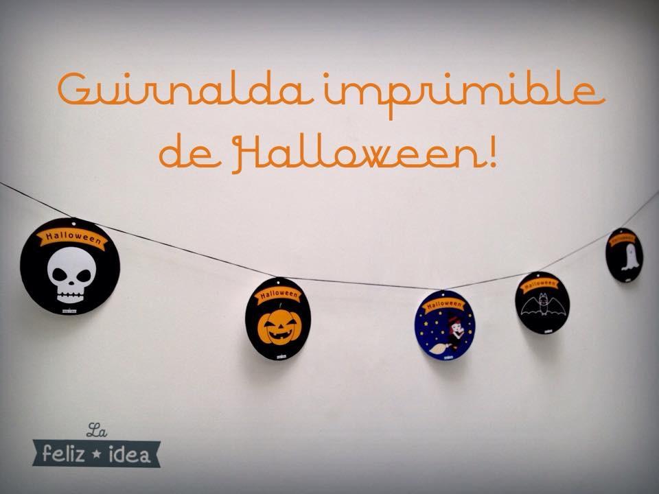 Free printable Halloween garland - Guirnalda de Halloween imprimible gratuito