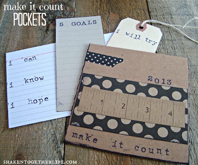 easy New Years decor - make it count pockets