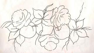 rosas e pessegos