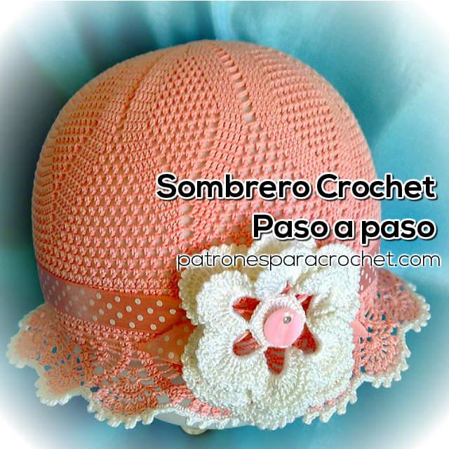 Aprende a tejer un sombrero para niña al crochet   Tutorial 6abef4f4c2e