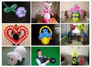 Уроки видео по изготовлению фигур из надувных шаров.