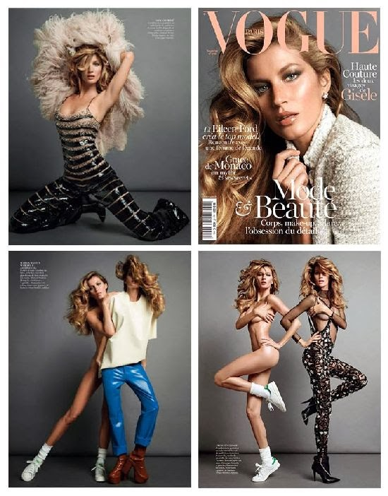 Retro Bikini: Gisele Bundchen Covers Vogue Paris Magazine ...