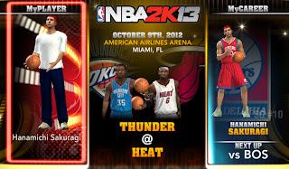 NBA 2K13 Hanamichi Sakuragi MyCareer Profile