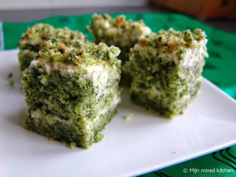 spinazie cake recept