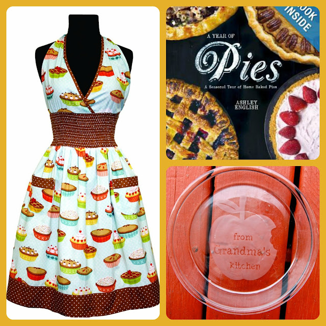It is Pies in July Week on Frugal Foodie Mama!  Enter to win this cute pie themed prize pack! *Ends 7/14/13