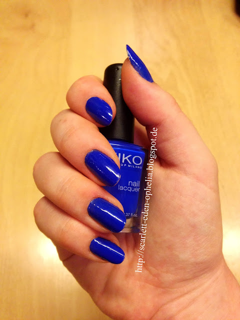 Kiko Nailpolish midnight blue blau 336