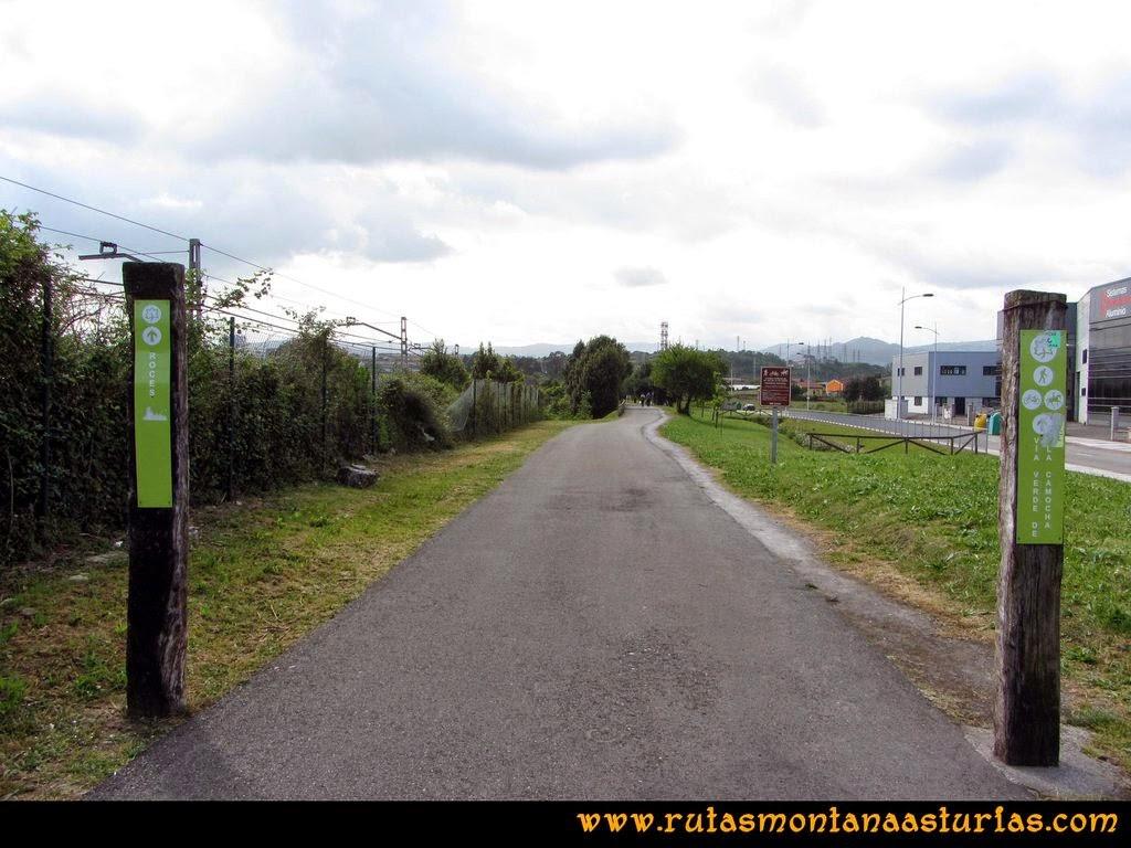 Senda Verde Camocha - Pico Sol - Piles: Comienzo de la Senda Verde