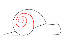 How To Draw A Snail Step 3