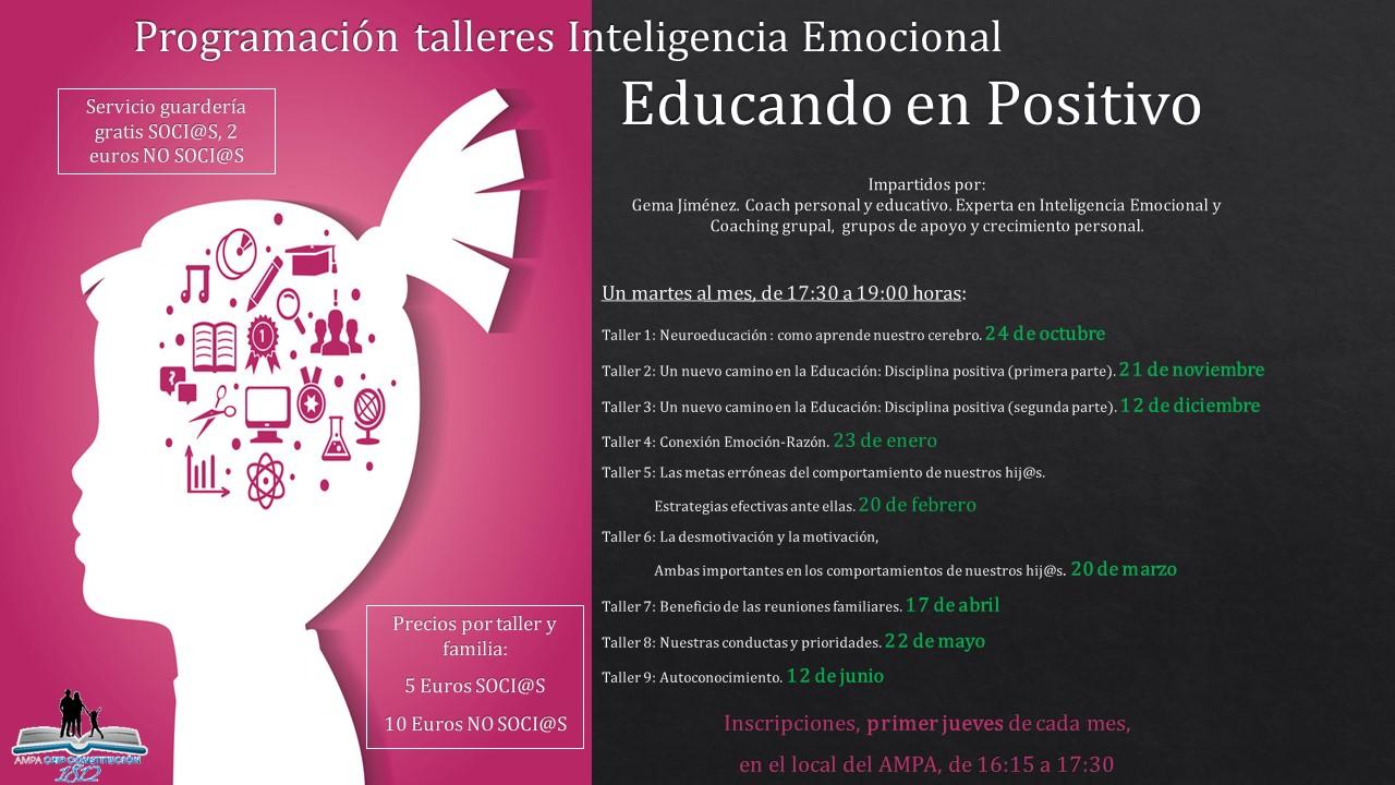 Programación 2017/2018 talleres Inteligencia Emocional