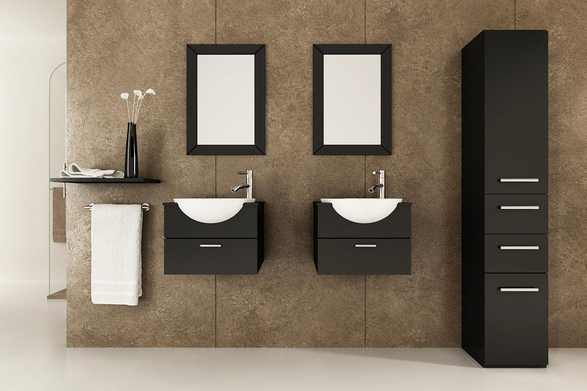 Trend homes bathroom vanity ideas for Bathroom double vanity designs