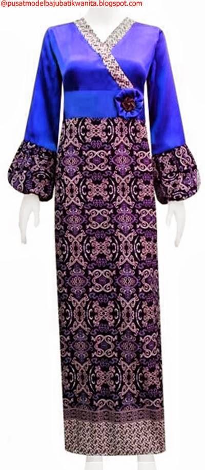Model Baju Batik Gamis Terbaru Gambar Model Baju Batik