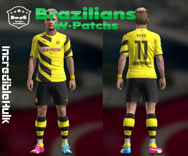 pes 2013 pc kit borussia dortmund 201415 � brazilians w