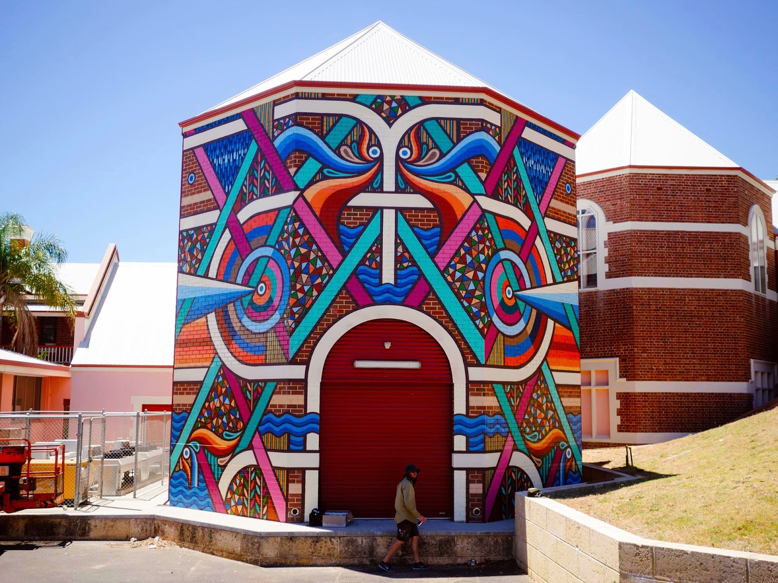The Re.Discover 2015 Street Art Festival is currently underway on the streets of Bunbury in Australia where Beastman just finished working on this new piece.