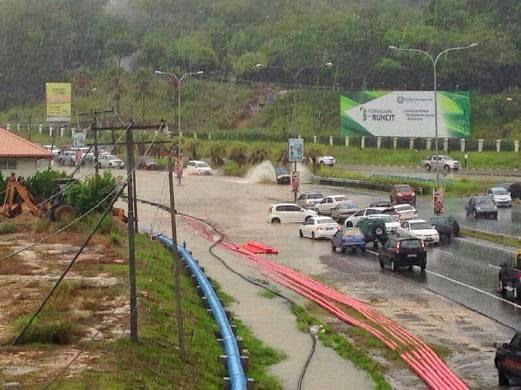 Gambar Banjir Kilat Di KK Dan Penampang 27 Ogos 2014
