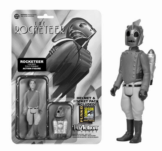 San Diego Comic-Con 2014 Exclusive Black and White The Rocketeer ReAction Retro Action Figure by Funko & Super7