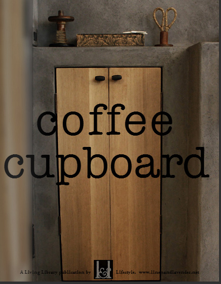 coffee cupboard - A Living Library Publication by linenandlavender.net